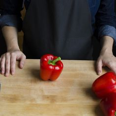 Today's tip: An easy way to slice and seed bell peppers