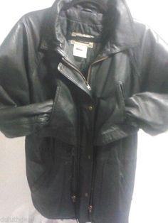 OTELLO PELLE Black Leather Jacket Women's Medium, Basic Jacket #OTELLOPELLE #BasicJacket