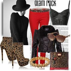Just bought a pair of red skinnys and I am ready to bust out the leopard print to go with it! #hot