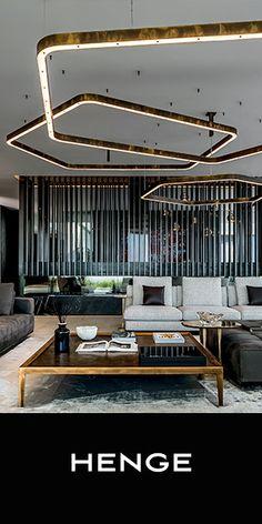 Light Ring Horizontal & Designermöbel | Architonic Dining Table Design, Dining Tables, Suspended Lighting, Interior Decorating, Interior Design, World Of Interiors, Design System, Contemporary Rugs, Building Materials