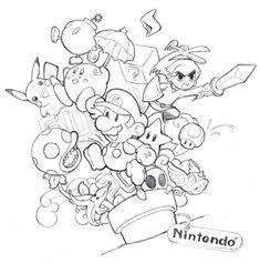 Nintendo collage by yujai on DeviantArt – Graffiti World Collage Drawing, Doodle Art Drawing, Graffiti Drawing, Collage Art, Collage Tattoo, Tattoo Design Drawings, Art Drawings Sketches, Cartoon Drawings, Cartoon Art