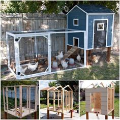Chicken Coop - DIY Chicken Coops Plans That Are Easy To Build Building a chicken coop does not have to be tricky nor does it have to set you back a ton of scratch. Chicken Coop Designs, Chicken Coop Plans Free, Backyard Chicken Coop Plans, Small Chicken Coops, Chicken Barn, Chicken Coop Run, Portable Chicken Coop, Chicken Tractors, Building A Chicken Coop