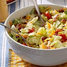 5-Ingredient Salad Recipes                     -                                                   These easy recipes for potato salad, coleslaw, pasta salad, cucumber salad and more salads are each made with five or fewer ingredients (excluding staples like water, salt, pepper and olive oil).