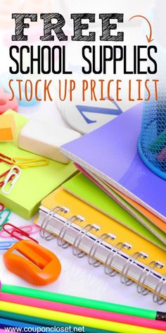 My School Supplies Stock up Price List. Here is a free printable you can download so you Know the Best Back to School prices that you can snag.