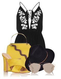 """Untitled #3763"" by sonjamilica ❤ liked on Polyvore featuring River Island, Roksanda, Gianvito Rossi and Christian Dior"