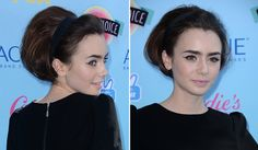 Oh wait, no sorry it's just actress Lily Collins. But wow, that bun and those brows are very Audrey-like. Not something I was expecting to see on the red carpet of the 2013 Teen Choice Awards that's for sure.
