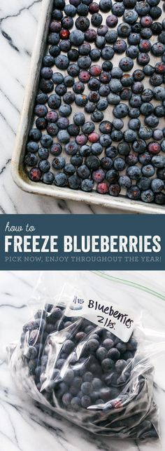 Kitchen Basics: How to Freeze Blueberries - Reference: Food & Cooking - Frozen Fruit Recipes Freezer Cooking, Freezer Meals, Cooking Tips, Freezer Recipes, Cooking Food, Food Prep, Meal Prep, Blueberry Recipes, Fruit Recipes