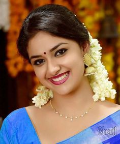 Keerthy Suresh is an Indian film actress who appears in Tamil, Malayalam and Telugu films. She is the daughter of Malayalam producer Suresh Kumar Beautiful Girl Indian, Most Beautiful Indian Actress, Beautiful Girl Image, Beautiful Smile, Beautiful Bollywood Actress, Beautiful Actresses, Beauty Full Girl, Beauty Women, Indian Actress Images