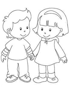 40 Desenhos sobre Amizade para Colorir e Imprimir - Online Cursos Gratuitos Art Drawings For Kids, Drawing For Kids, Cartoon Drawings, Easy Drawings, Art For Kids, School Coloring Pages, Colouring Pages, Coloring Sheets, Coloring Books