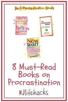 8 Must-Read Books on Procrastination. In today's article, I want to show you the top eight books that helped me the most on my own journey of overcoming procrastination. Writing Resources, Blog Writing, Writing Tips, Reading Lists, Book Lists, Good Books, Books To Read, Motivational Books, Personal Development Books