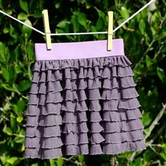 Infant toddler ruffle fabric skirt with elastic waistband