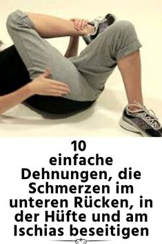 10 simple stretches, pain in the lower back, hip and is . - 10 Simple Stretches That Eliminate Lower Back, Hip, and Sciatica Pain Informations About 10 einfache - Fitness Workouts, Yoga Fitness, At Home Workouts, Fitness Motivation, Pilates Workout Videos, Pilates Training, Beachbody Workout, Wellness Fitness, Health Fitness