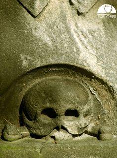 Fragment nagrobka przy kościele św. Marcina i Wincentego w Skórzewie. Lion Sculpture, Statue, Art, Art Background, Kunst, Gcse Art, Sculpture, Sculptures