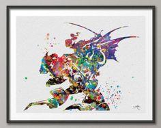 Final Fantasy VI inspired Watercolor illustrations Art Print Fan Art Wall Art Poster Giclee Wall Decor Art Home Decor Wall Hanging No 122
