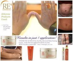 REVERSE THE HANDS OF TIME with RE9 Advanced for Body! Serum, lotion, firming creme, neck creme, and wash! #Arbonne