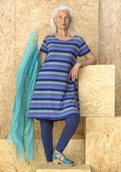 Striped tunic in lyocell/elastane