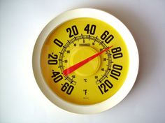 Large 12 Vintage Springfield Thermometer by PoorLittleRobin, $36.00