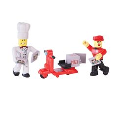 "Roblox ""Work At A Pizza Place"" Playset - Flubit Toys Uk, Kids Toys, Roblox Pizza, Creativity Online, Pizza Chef, Pizza Delivery, Game Item, Minions, Action Figures"