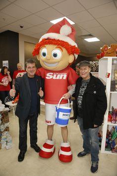 The Rollers meet Scottish Sun mascot Sunny