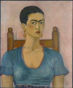 Frida Kahlo - Self-Portrait, 1930 Frida E Diego, Frida Kahlo Diego Rivera, Frida Art, Natalie Clifford Barney, Frida Paintings, Mexican Artists, Arte Popular, Oil Painting Reproductions, Naive Art