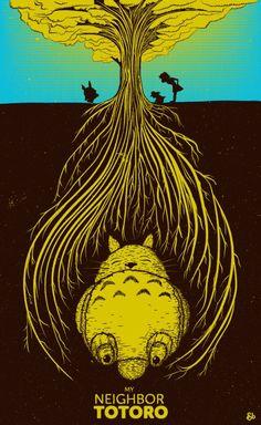 Studio Ghibli Poster Series: My Neighbor Totoro - Jack Bloom