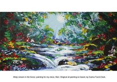 'Misty stream in the forest', an original oil painting by Carina Turck-Clark.