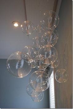 hanging glass bubbles!