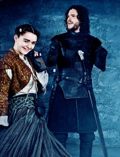 Maisie Williams and Kit Harington in Entertainment Weekly
