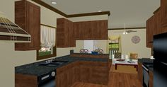 Rendering of the kitchen from plan HDC-1327A-5 from http://www.homedesigncentral.com/detail.php?planid=HDC-1327A-5.