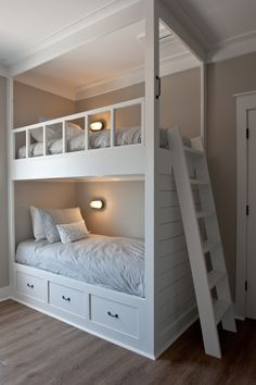 Bunk Beds are a very popular option for the growing family, and if you look for . - Bunk Beds are a very popular option for the growing family, and if you look for a few ideas in this - Bunk Beds For Girls Room, Toddler Bunk Beds, Bunk Bed Rooms, Bunk Beds Built In, Modern Bunk Beds, Bunk Beds With Stairs, Cool Bunk Beds, Kid Beds, Built In Beds For Kids