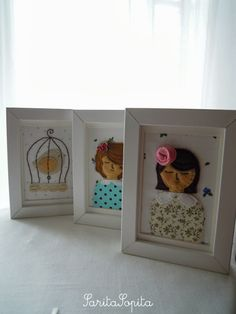 SaritaSopita ♥ Bambi, Frame, Home Decor, Fabrics, Felting, Necklaces, Picture Frame, Decoration Home, Room Decor