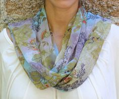 India Blue Floral Scarf  - Trades of Hope