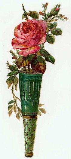 rose in ornamental cone