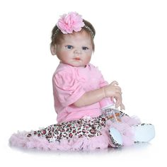 98.09$  Watch here - http://ali7f6.worldwells.pw/go.php?t=32753764352 - 58cm full silicone reborn baby doll toys gender Girl Lifelike reborn bonecas de silicone Doll Bonecas brithday Kids Xmas gifts