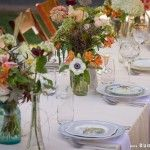 vintage tablescape - I like the plates that are more scalloped edges, small details in the design