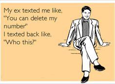 Funny Facebook Status: My Ex Text Me Funny Facebook Status Quote