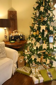 Coastal Charm: Christmas Decor~In The Family Room