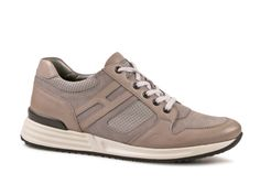Hogan Rebel mens sneakers in Medium Gray Leather
