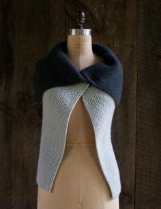 gorgeous garter stitch vest - free pattern - can be worn in many ways!