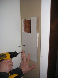 How to patch a hole in the wall...