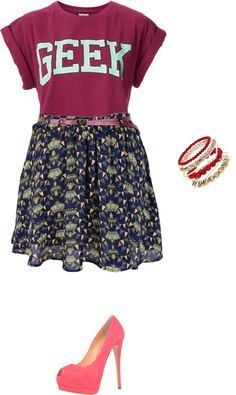 """dressing up an old t"" by brandyayers on Polyvore"