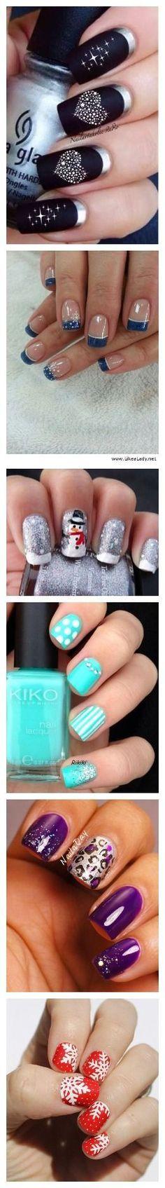 Image via  christmas by jauntyjuli #nail #nails #nailart   Image via  COOL CHRISTMAS NAIL ART DESIGNS 2016   Image via  Digg Women's Fashion: Nail Polishes of the Year     Ima