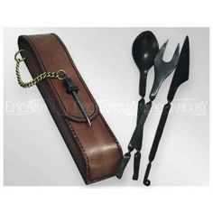 Medieval Cutlery Brown Leather