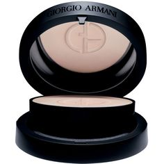 Giorgio Armani Lasting Silk Compact Foundation SPF 35 ($59) ❤ liked on Polyvore featuring beauty products, makeup, face makeup, foundation, beauty color foundations, spf foundation, giorgio armani and giorgio armani foundation
