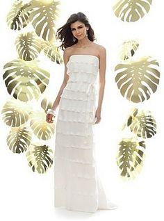 My wedding dress. Simple, light, classy and chic!