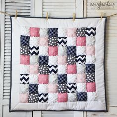 Puff quilt Gorgeous colour combos