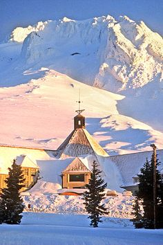 When it opened on Mt. Hood, Oregon in 1938, Timberline Lodge was a jewel in the crown of the WPA.  Still is!