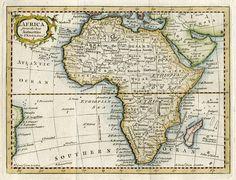 Africa map, Thomas Kitchin, 1770