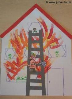 Dit knutselwerkje is maar 1 van de vele die we hebben in het thema brandweer, bezoek Juf Milou voor nog meer knutselwerkjes.