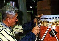 Making a Taiko drum